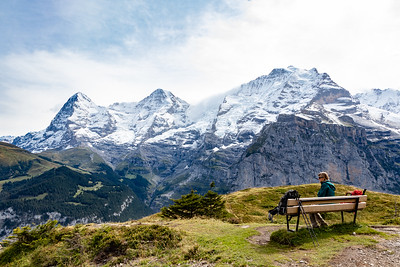 Stef and (L-R) Eiger, Monch and Jungfrau