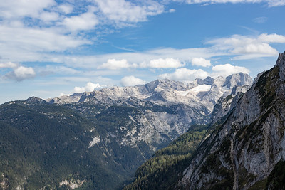 View of Dachstein Mountains and Glacier from Pass