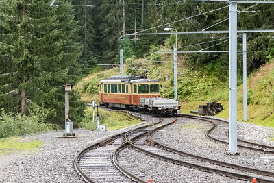 Train from Grustschalp to Murren