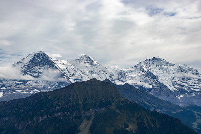Looking over the Mannlichen at the Eiger, Monch and Jungfrau