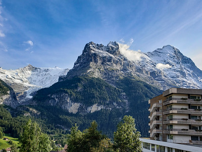 View from Our Balcony - the Eiger at the Right