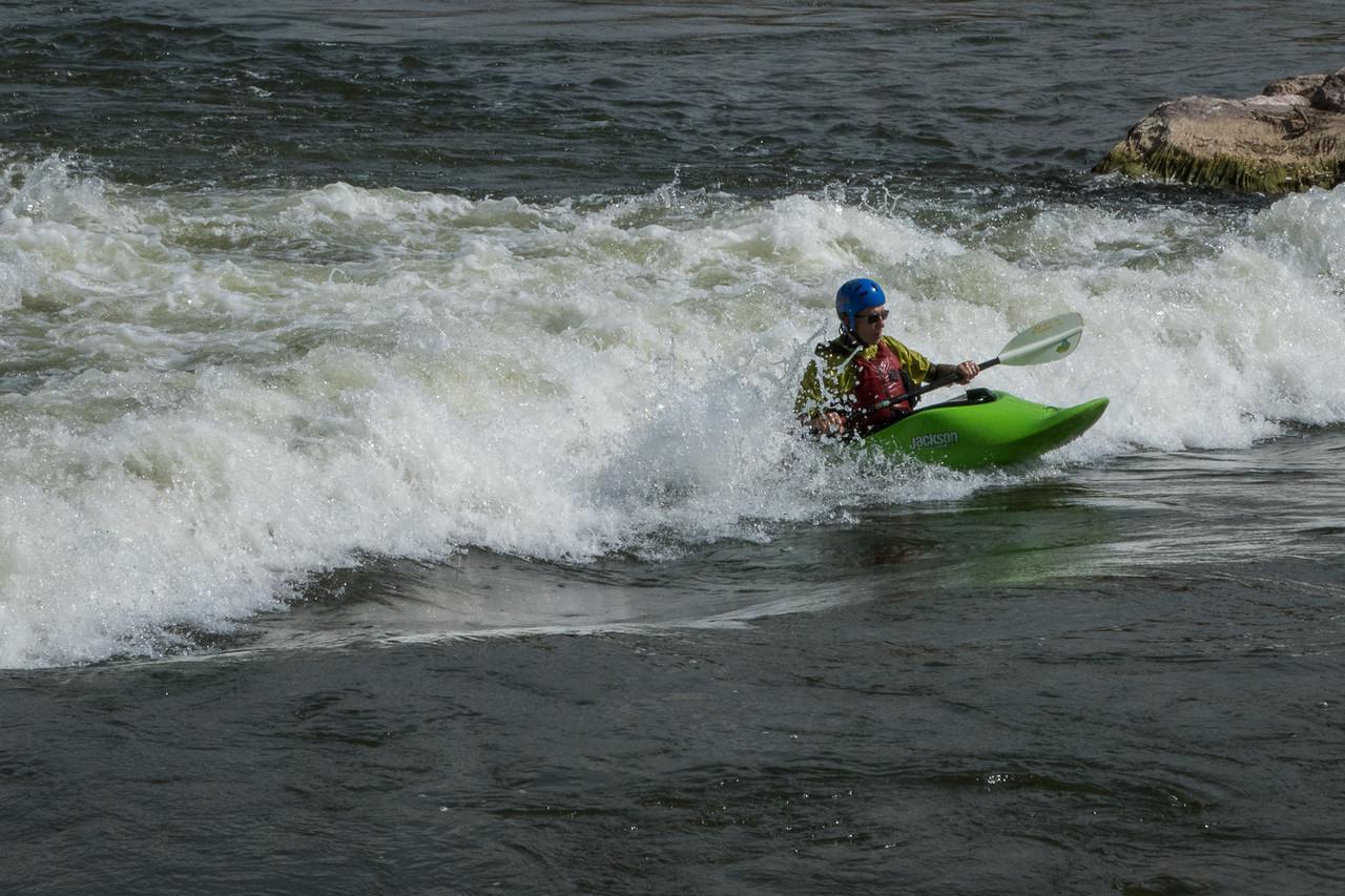 Not us!  Having fun in the Platte River