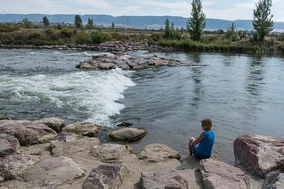Stef and the Platte River in Casper WY