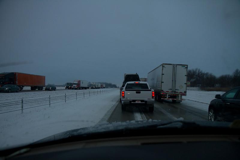 Woke up to snow in Ohio.