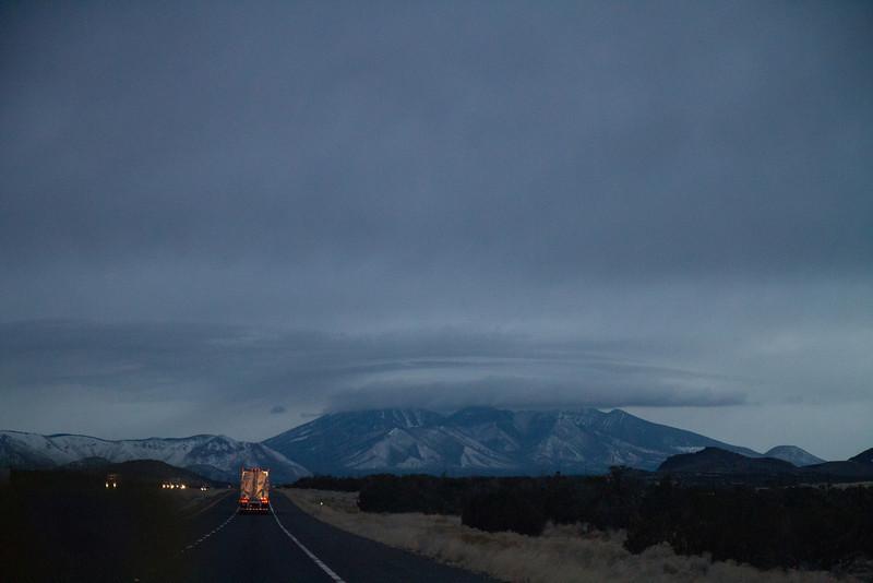 Approaching Flagstaff. Storm's a brewing.