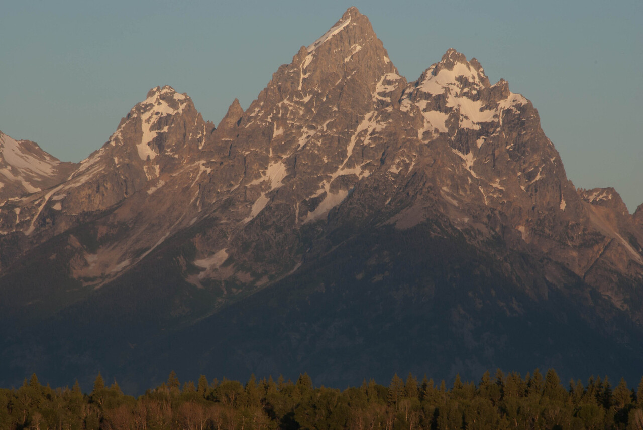 Dawn, Elk Ranch Flats Overlook, Grand Teton National Park