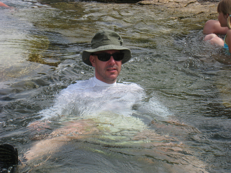 Floating in the Boiling River