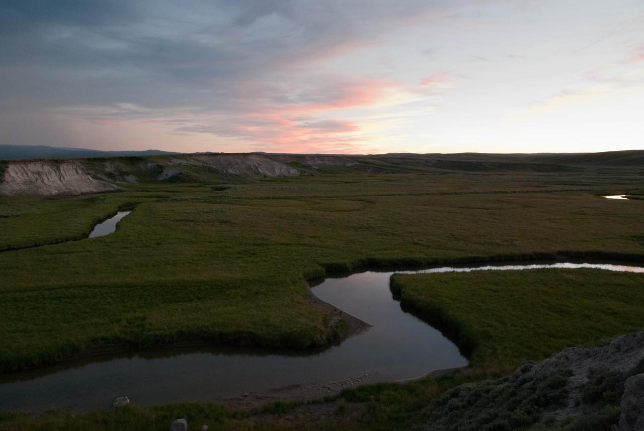 Sunset, Hayden Valley, Yellowstone
