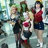 Black Canary, Poison Ivy, Harley Quinn, and Wonder Girl
