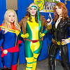 Captain Marvel, Rogue, and Black Widow