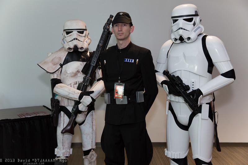 Sandtrooper, Imperial Officer, and Stormtrooper