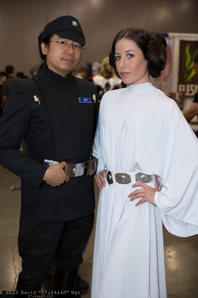 Imperial Officer and Princess Leia Organa