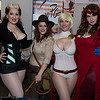 Rogue, Indiana Jones, Power Girl, and Scarlet Witch