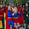 Robin, Wonder Woman, Captain Marvel, Superman, Black Canary, Supergirl, Mary Marvel, Red Arrow, Zatanna, and Green Arrow