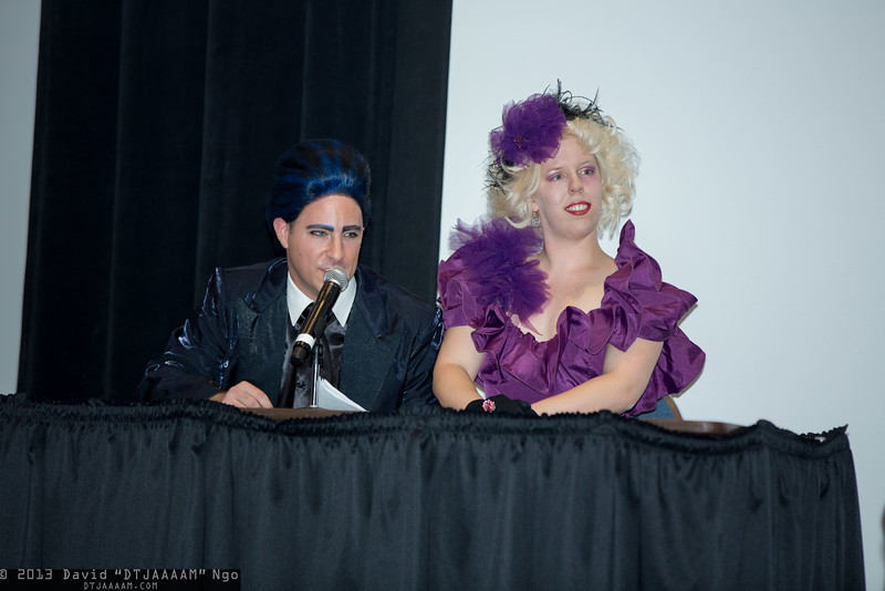 Caesar Flickerman and Effie Trinket