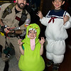 Ghostbuster, Slimer, and Stay Puft Marshmallow Man