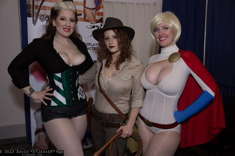 Rogue, Indiana Jones, and Power Girl