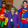 Robin, Joker, and Superman