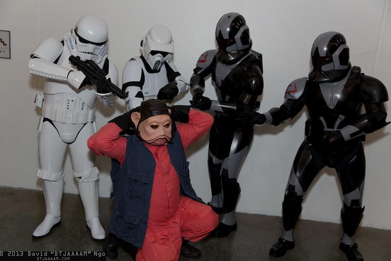 Stormtroopers, Nien Nunb, and Clone Commandos