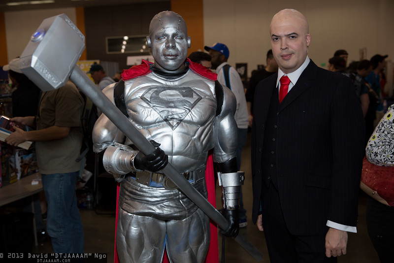Steel and Lex Luthor