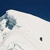 approaching summit of lobuche east
