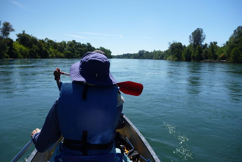 Adrift with Anita on the Sacremento River
