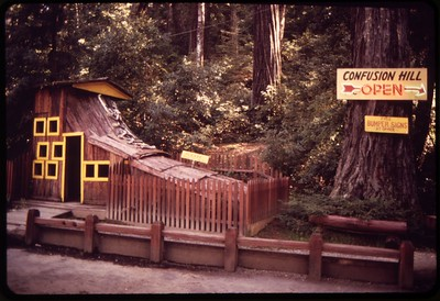 GIANT SHOE: The Confusion Hill Shoe House is a regular attraction for those who like traditional Mother Goose rhymes that come to life. Confusion Hill is very close to the Humboldt County-Mendocino County line in Piercy. (Photo from U.S. National Archives and Records Administration)