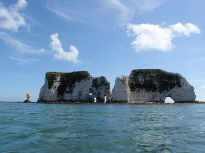 Kayaking at Old Harry, Dorset