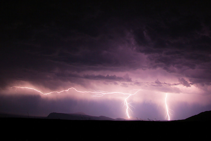 Lighting show looking towards Mexico from Big Bend National Park