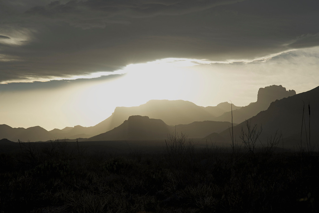 Sunset over the Chisos<br /> Big Bend National Park<br /> Texas<br /> 3-2013