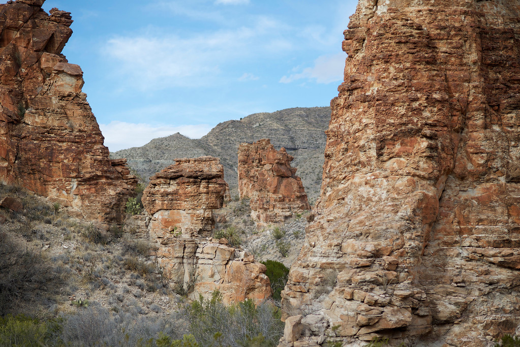 Red Rock Formations<br /> Blue Creek Canyon<br /> Big Bend National Park<br /> Texas<br /> 3-2013
