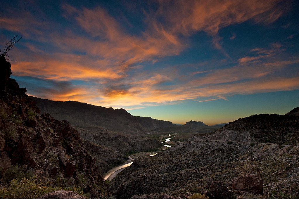 Colorado Canyon Sunset<br /> Big Bend State Park<br /> Texas<br /> 2010