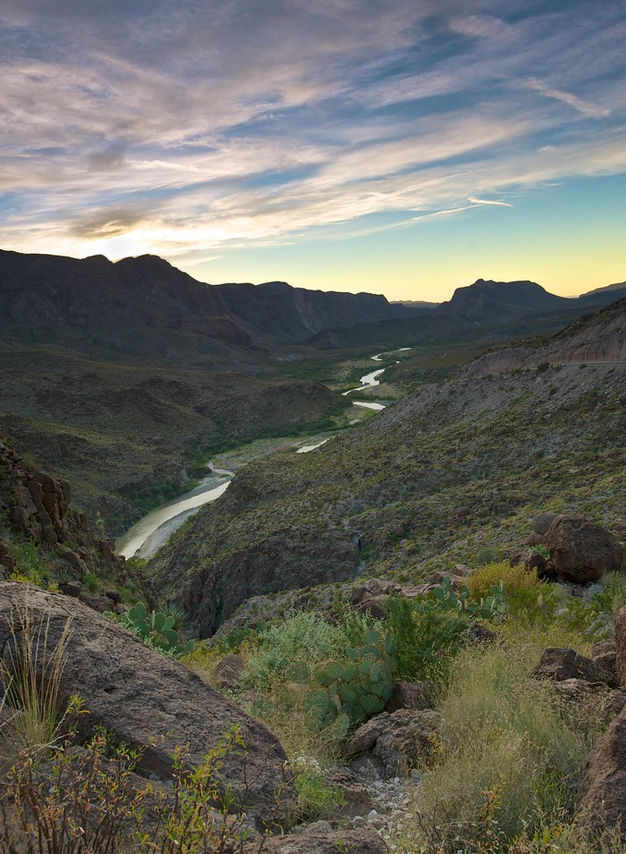Rio Grande Sunset: Colorado Canyon<br /> Our first evening in Big Bend<br /> October 2010