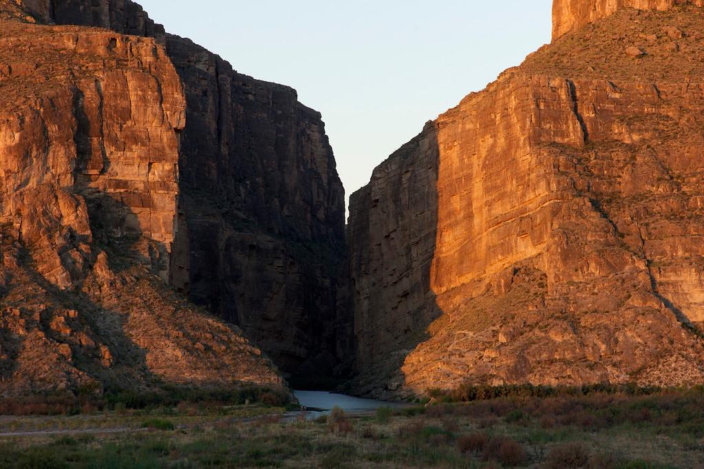 Santa Elena Canyon Sunrise<br /> Big Bend National Park<br /> October 2010