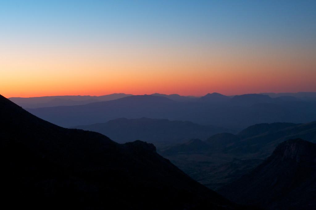 Dawn in Big Bend<br /> Lost Mine Trail<br /> Juniper Canyon<br /> Big Bend National Park <br /> October 2010
