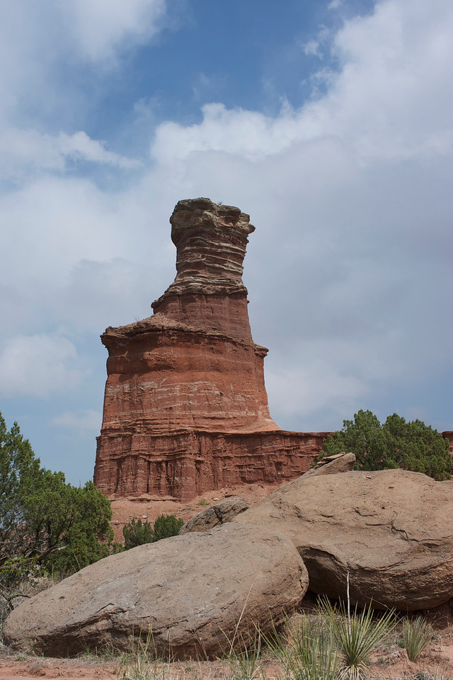 Palo Duro's most famous formation: the Lighthouse.  <br /> <br /> Getting there involves a round trip hike of just under 6 miles. <br /> <br /> <br /> Palo Duro Canyon<br /> Texas <br /> April 2012