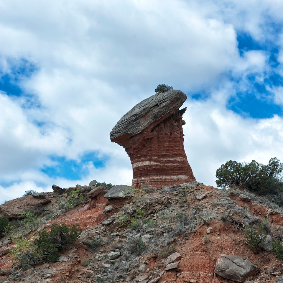 This impressive hoodoo resembles the BCS national championship football trophy.    <br /> <br /> Roll Tide!<br /> <br /> <br /> Palo Duro Canyon<br /> Texas <br /> April 2012