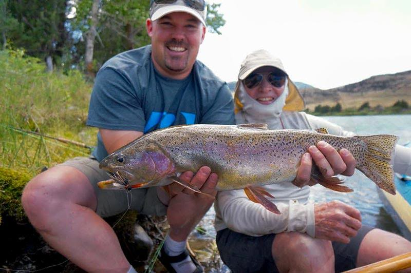 Chuck and Charley Von Stade with a big Flutter Bug cutbow! Photo: Eric Paulson