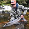 Costal Chrome!  Todd Barber with a fresh AK steelie.  Photo: Jeff Matney