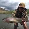 Starr Corcoran with a solid salmonfly eater!  Photo: Josh Edwards