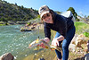 Chloe Nostrant with a nice brown caught on a streamer...