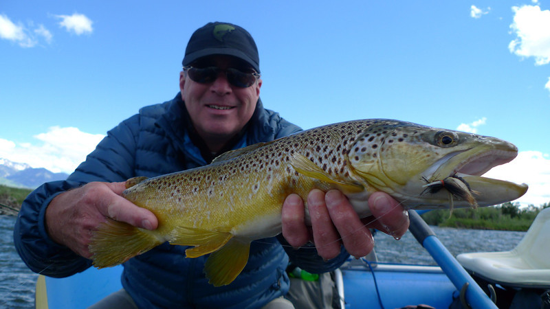 Jeff O'Brien with a big Flutter bug brown!  Photo: Eric Paulson