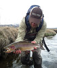 Brady Hughes with a nice small stream cutbow.  Photo: Jedwards