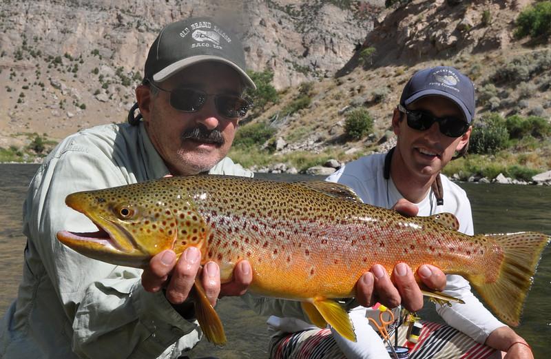 Ron Mcknight with a beautiful brown.  Photo: Doug Mcknight