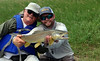 Bruce Ullock and Hank Bechard share a big fish moment in the Valley...
