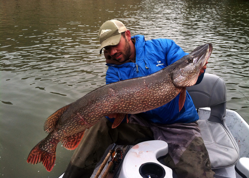 Chet Cook with a big Montana Pike.   Photo: Paul Bloch