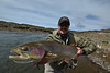 Jeff Carder, with a big Barrancosa bow, Argentina.  Photo: James Anderson