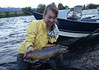 Tessa Nicole Taylor with a big Salmonfly birthday brown! Photo: John Bond