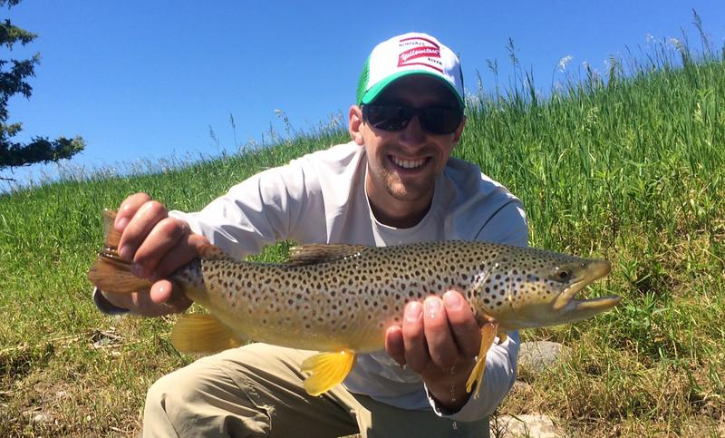 Troy Lichtenegger with a nice Valley fish!  Photo: Matt Carara