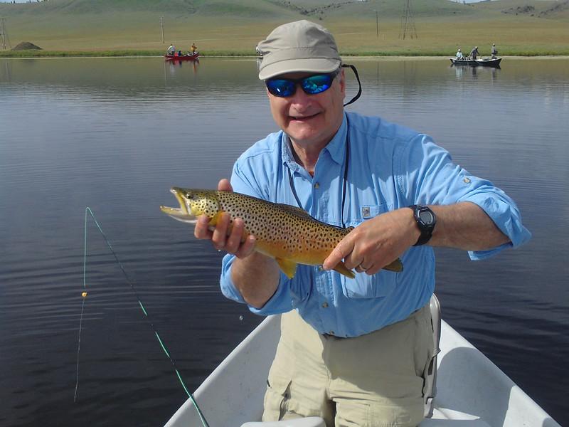John rocking it on the lake... Photo: Jedwards